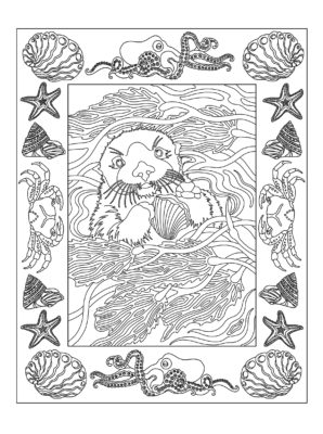 "Example of page from ""Beauty In The Sea"""