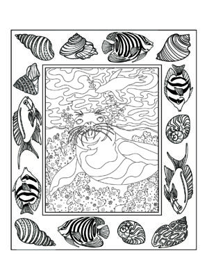 Example from Beauty In The Sea Coloring Book