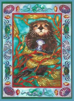 "Painting of ""Sea Otter"" by Julia Pinkham"